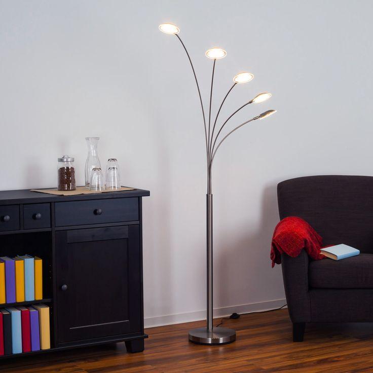 Sirina - 5-flammige LED-Bogenleuchte Jetzt bestellen unter: https://moebel.ladendirekt.de/lampen/stehlampen/standleuchten/?uid=4d444dbf-fd38-58f7-926c-c002a68a6336&utm_source=pinterest&utm_medium=pin&utm_campaign=boards #stehlampen #leuchten #lampen Bild Quelle: www.lampenwelt.de