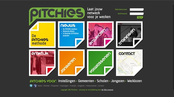 Een mooi project. Een website-, huisstijl- en een applicatieontwerp voor online projectcoaching voor mensen met een maatschappelijke achterstand. www.pitchies.com