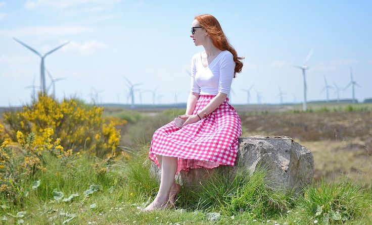 pink gingham Primark skirt