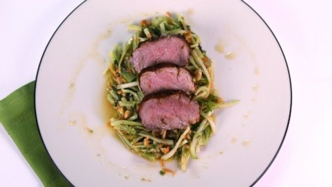 Spiced Grilled Pork Tenderloin with Broccoli Carrot Slaw | Daphne Oz, The Chew