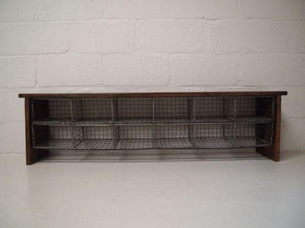 Vintage school locker room bench