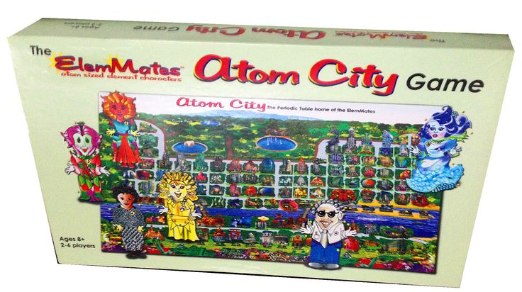 11 best fantasy city periodic table of chemical elements chart meet friends and collect atom to build into colorful molecules fun cooperative open ended face to face board game tested on everyone urtaz Images