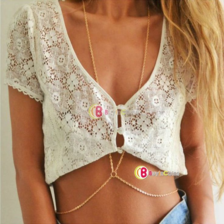 Sexy Unibody Harness Tassels Bikini Layered Crossover Body Belly Chain Necklace -- BuyinCoins.com