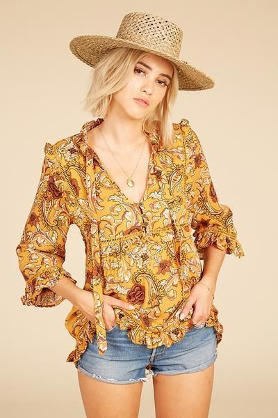 NWT Spell & the Gypsy Designs Collective Etienne Blouse Sienna XS Floral XXS | Clothing, Shoes & Accessories, Women's Clothing, Tops & Blouses | eBay!