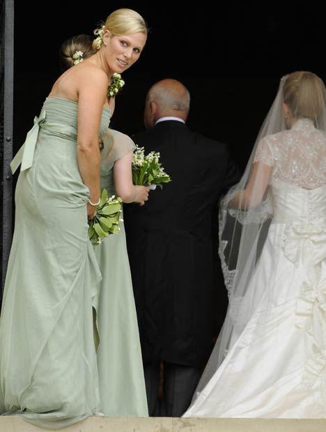 Zara as bridesmaid.