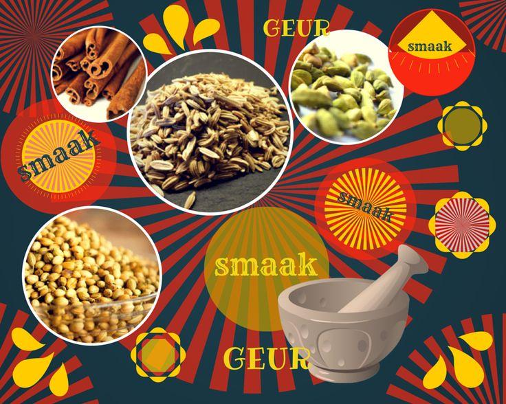 De kruidige smaak van specerijen is heerlijk om te gebruiken in een desembrood. Bijv. kaneel, kardemom, gemberpoeder en kruidnagel.