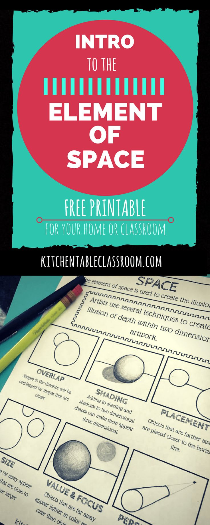 334 best elements principles of art images on pinterest introduction to the element of space with free printable robcynllc Image collections