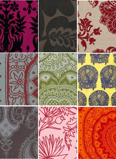 Design team fabrics, available from Beach House DECOR Studio - www.beachhouse.co.za