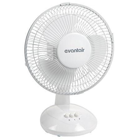 Evantair Desk Fan White 23cm