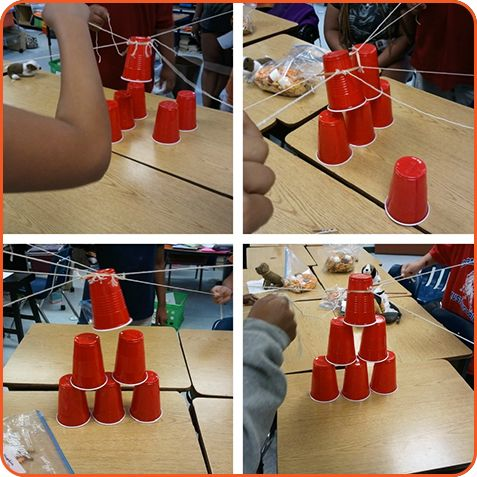 Cup Stacking Collaboration Challenge | Middle School Science