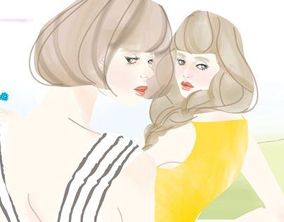"Check out new work on my @Behance portfolio: ""Takako illust ""girls"""" http://be.net/gallery/58167361/Takako-illust-girls"