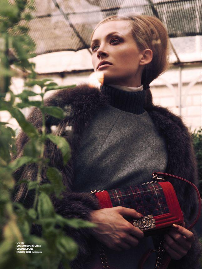 #CHLOEmagazine #LUCIANMATIS #CHANEL Photo #MatthewLyn Styled by #AmarsanaGendunova Hair #RafaelEstrellaDunn Makeup #DylanKHudson #style #fashion #look #purse #fur