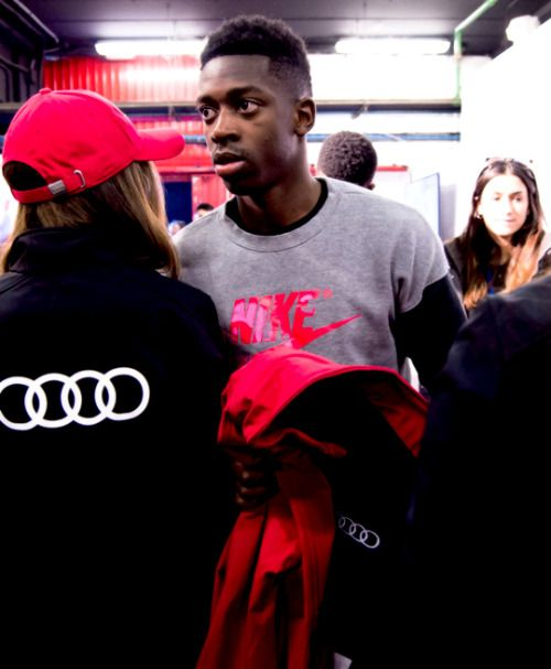 """""""Ousmane Dembele of FC Barcelona arrives to the Audi Car handover to the players of FC Barcelona on November 30, 2017 at Circuit de Barcelona-Catalunya in Montmelo, near Barcelona, Spain. """""""