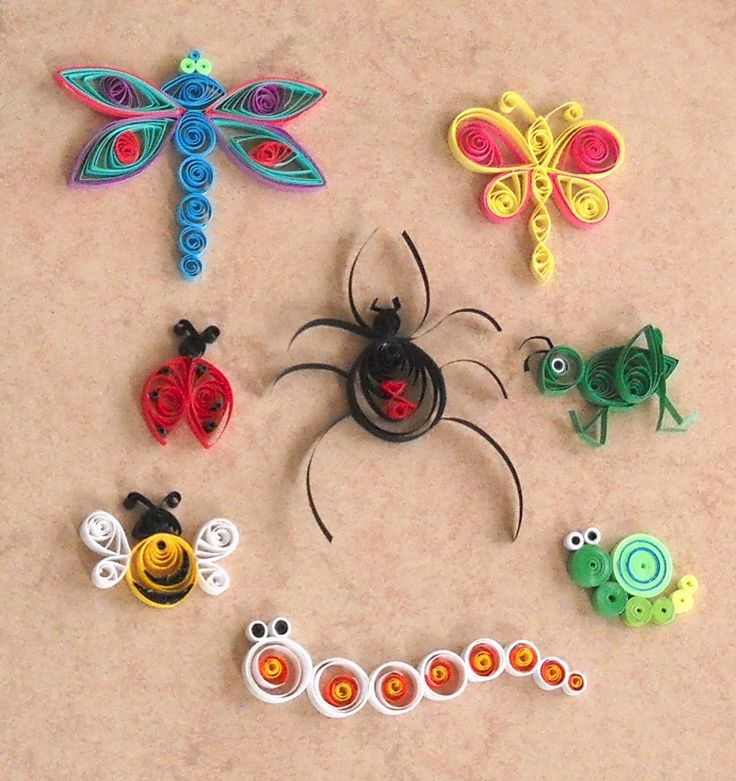 Bugs and Insects Quilled Paper Embellishments
