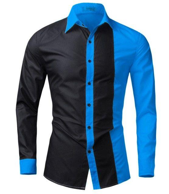 T-bird Men Shirt Long Sleeve 2017 Brand Shirts Men Casual Male Slim Fit Fashion Spell Chemise Mens Camisas Dress Shirts Hawaiian