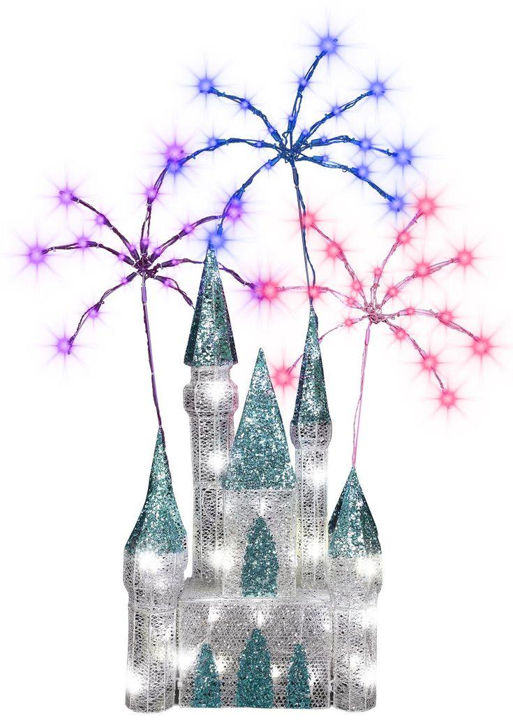 Crystal nuit étoilée-Château et feu d'artifice