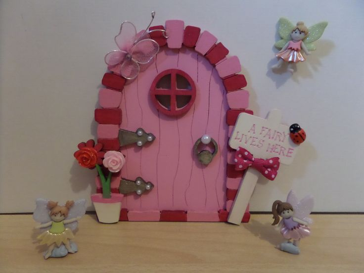 My hand painted wooden fairy doors add a little bit of magic to any little girls bedroom x x Available to purchase from https://www.facebook.com/elegantfancies