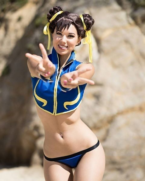 Caption this photo! Visit @neondropshop For All Your Geeky Needs! Model: @robincyn YOU CAN NOW PRE ORDER THIS PRINT FROM MY STORE!! And more!! They are limited so go grab one now Link in bio or in my story! @can_did_photos @pixel_panties #chunli #bikini #prints #gamergirl #geeky #cosplayers #gamergirls #geeksquad #cosplayersofinstagram