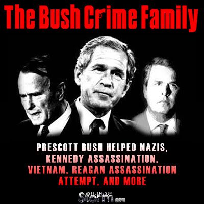 The Bush Crime Family History | Prescott Bush Helped Nazis, Kennedy Assassination, Vietnam, Reagan Assassination Attempt, and more