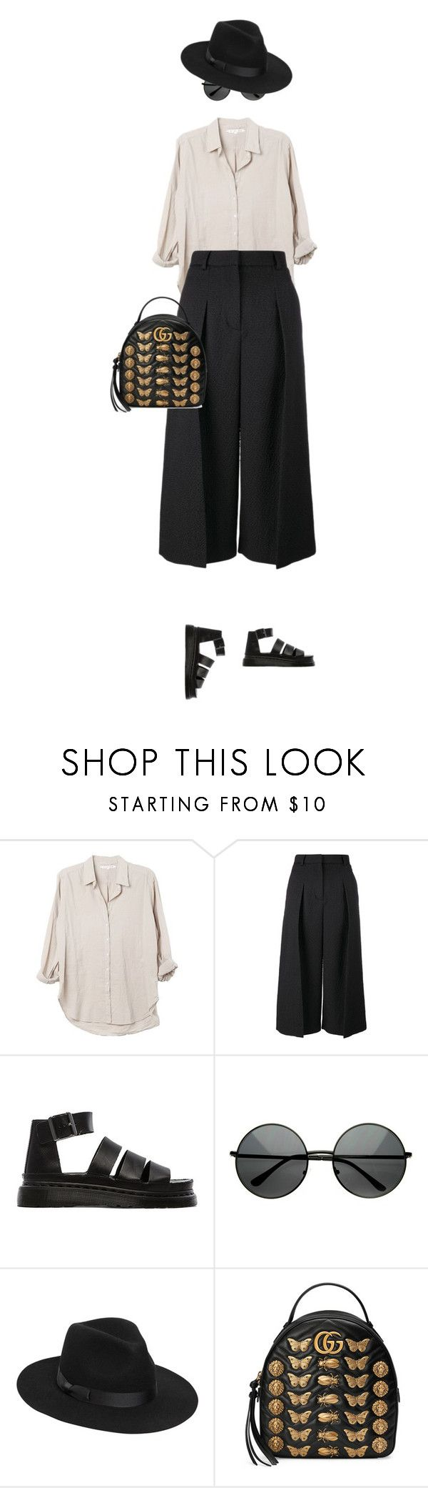 """""""eva 1157"""" by evava-c on Polyvore featuring Xirena, Erdem, Dr. Martens, Lack of Color and Gucci"""