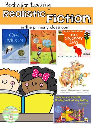 Books for teaching Realistic Fiction **Genre Study for Primary Students-Book recommendations, hands-on activities, Journaling notebook, assessment and a FREEBIE!