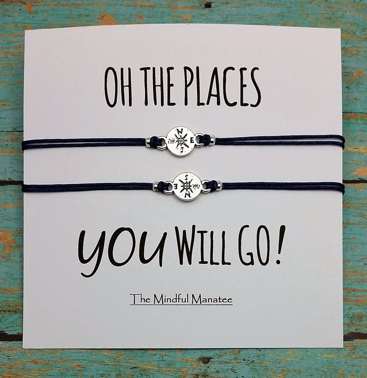 Compass Bracelets | Compass Charm Bracelets | Oh the Places | Graduation Gift | Best Friend Bracelet | Friendship Gift by TheMindfulManatee on Etsy
