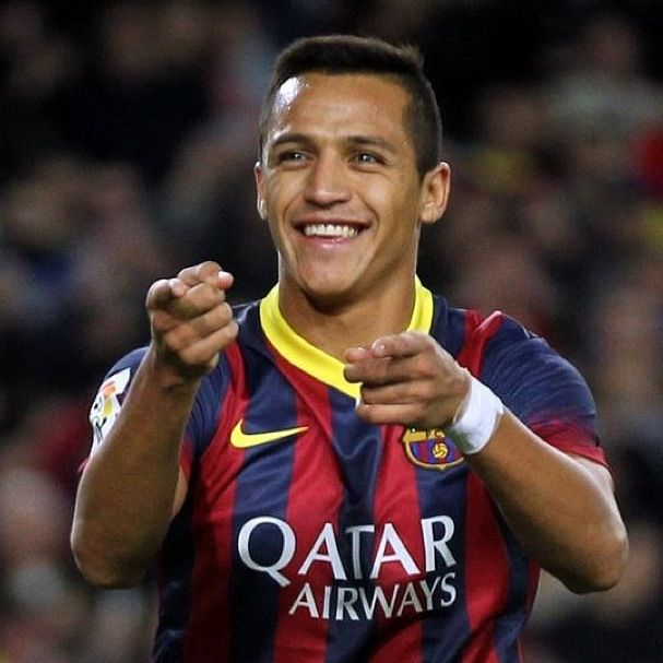 Alex Sanchez  striker/winger for FC Barcelona and the Chile national football team. Now playing for Arsenal F.C.