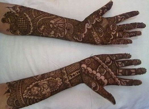 Mehndi Hairstyles Review : Best mehendi designs images mehndi for