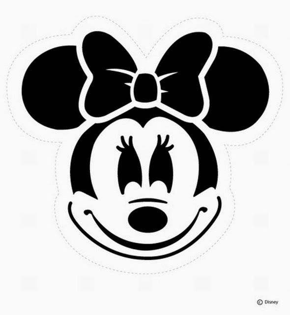 Moldes de la cara de Minnie Mouse. 3 plantillas diferentes.