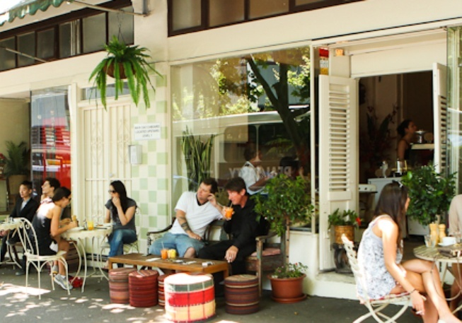 Kawa - Surry Hills hanging plants, casual seating and french doors