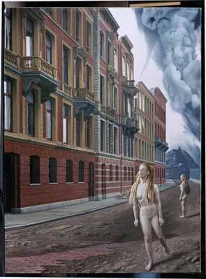 """Fuga Monialium"", 1967 / Carel Willink (1900-1983) / Private Collection"