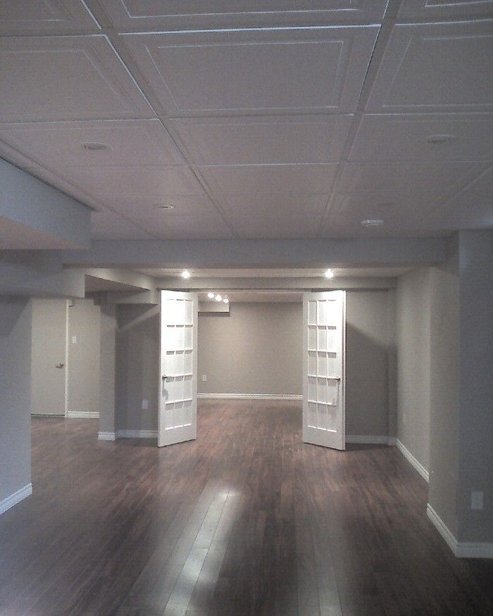 dropped ceiling lighting. basement remodel photo posted by crystal clear home renovations located in oshawa love the open layout gray paint floors but not ceiling tileswant dropped lighting i