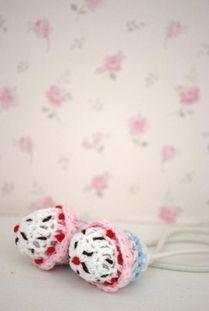 Crochet Cupcake hårsnodd
