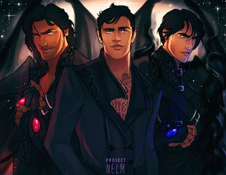 Cassian, Rhys and Azriel by ProjectNelm. ACOMAF. A Court of Mist and Fury. Sarah J. Maas