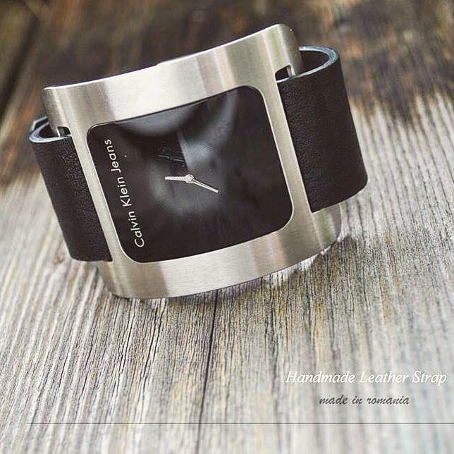 Handmade leather strap for Calvin Klein watch-  christiastraps@gmail.com.  Curea de #ceas din piele. Instagram : christiastraps