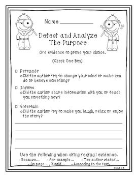 Authors purpose, download from tpt
