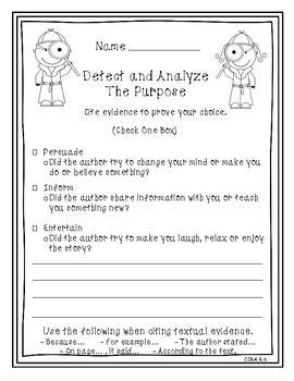 authors purpose second grade pinterest close reading purpose and reading. Black Bedroom Furniture Sets. Home Design Ideas