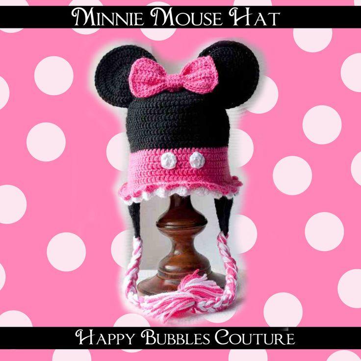 Vistoso Patrón De Crochet Sombrero De Minnie Mouse Ideas - Manta de ...