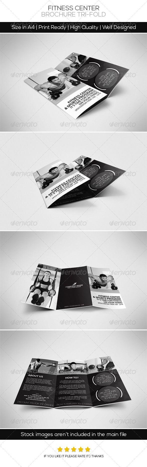 Fitness Center Brochure Tri Fold