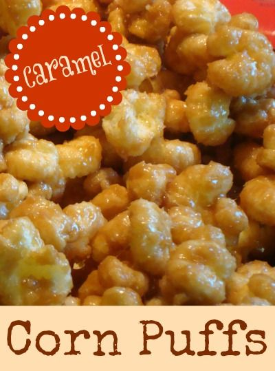 Caramel Corn Puffs - These are addicting! <3<3<3
