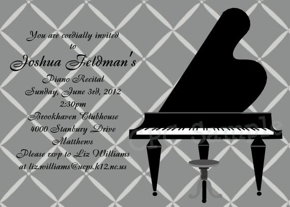 13 Best Recital Invitations Images On Pinterest Piano