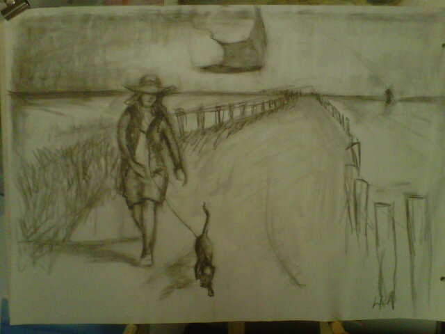 a sketch leading to my final painting.