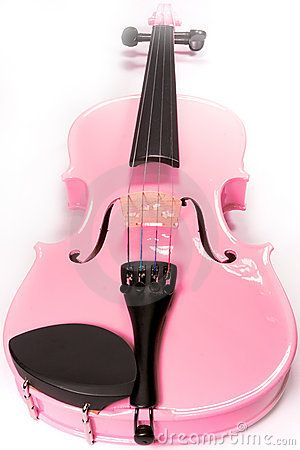 Full Pink Violin Isolated by Davidcrehner, via Dreamstime