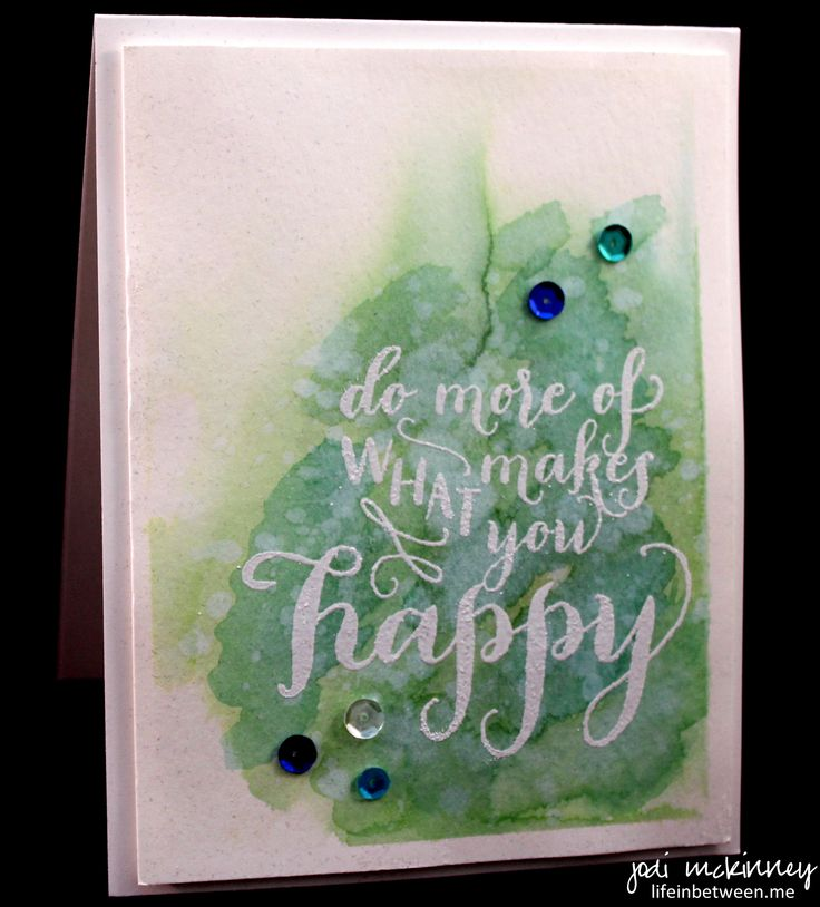 Happy Life Stampinup Watercolor Technique
