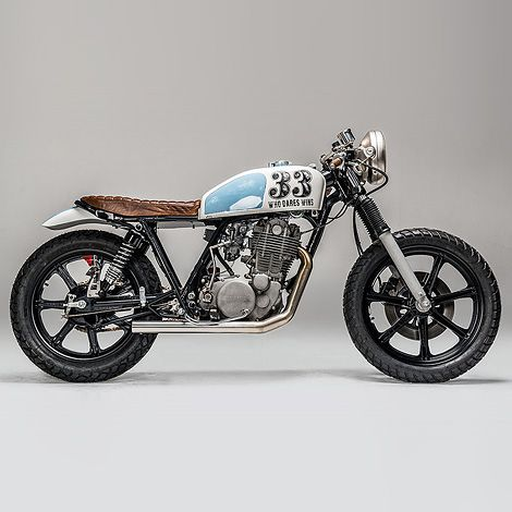 """Who Dares Wins"" Yamaha SR500 Cool paint job!"
