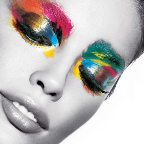 : Colour, Face, Make Up, Colors, Makeup, Art, Beauty, Rainbow, Eyes