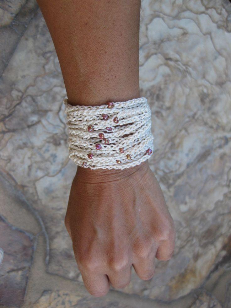 Beaded Strand Bracelet By Esther Chandler: FREE Crochet Pattern
