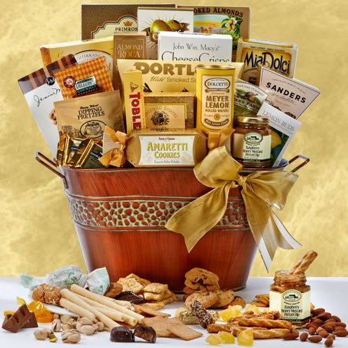 114 best gift baskets images on pinterest gift ideas handmade 75 grand gourmet delights tin negle Images
