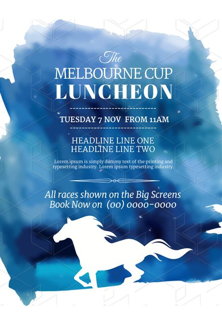 Customizable Melbourne Cup Template - drag and drop your way to design stunning graphics like a pro in seconds; without leaving your web browser.