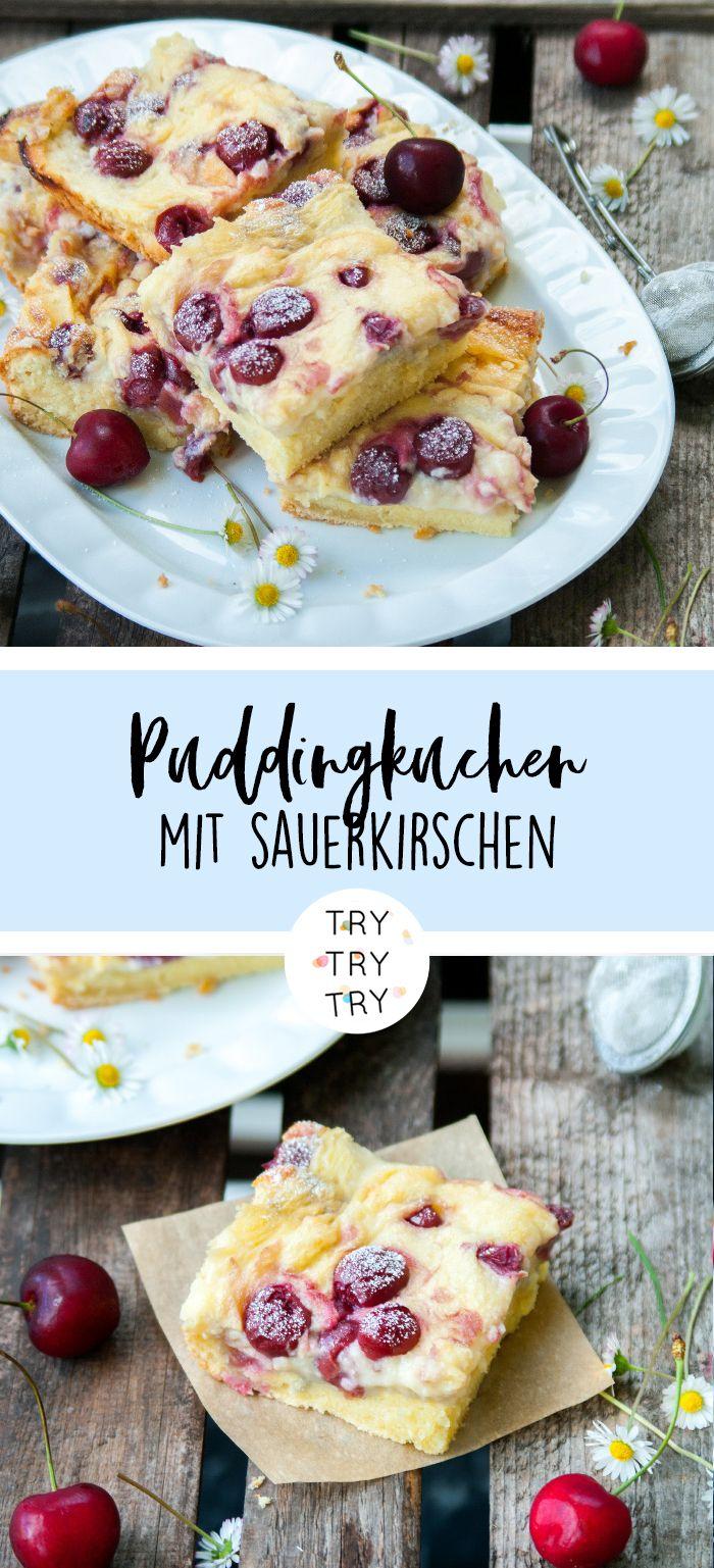 Puddingkuchen mit kirschen kuchen und torten backen for Gute und gunstige kuchen